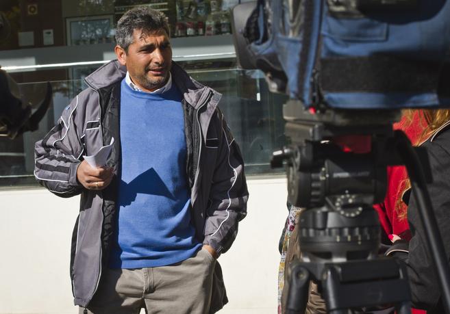 Juan José Cortés atiende este jueves a los medios de comunicación en Huelva.