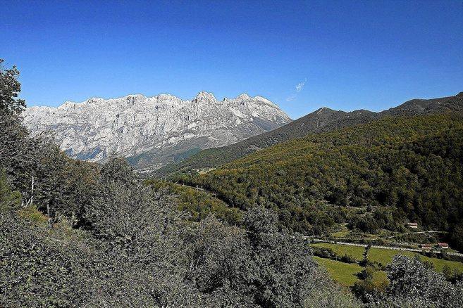 Vista panorámica del Parque Nacional de Picos de Europa.