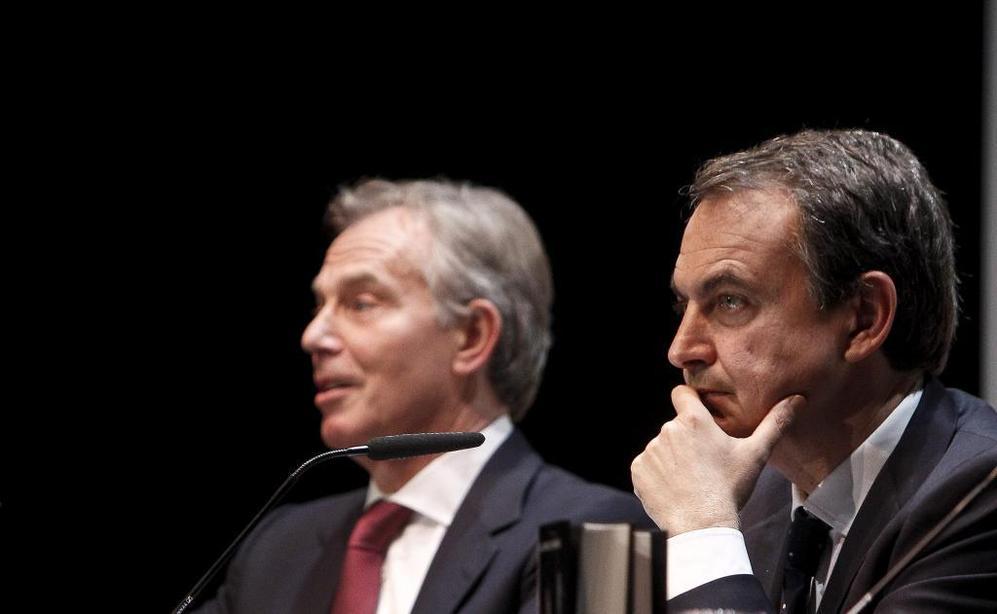 El ex presidente Zapatero ha presentado su libro junto a Tony Blair.