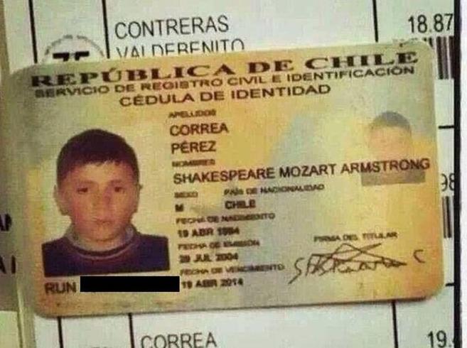 Imagen del documento de identidad de Shakespeare que subieron a las...