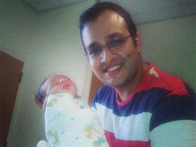 El libanés Nidal Darwish con su hijo Ghadi.