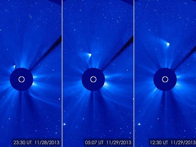 Esta secuencia muestra los restos del cometa ISON tras su...