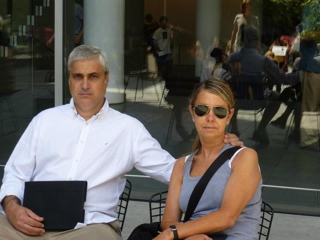 El consejero de justicia de la Generalitat, Germà Gordó, y su mujer...