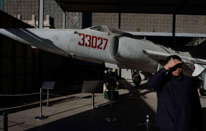 Un avión decomisado en el Museo Militar de Pekín.
