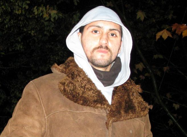 Amir Taaki, en la comuna de Ca La Fou, cerca de Igualada