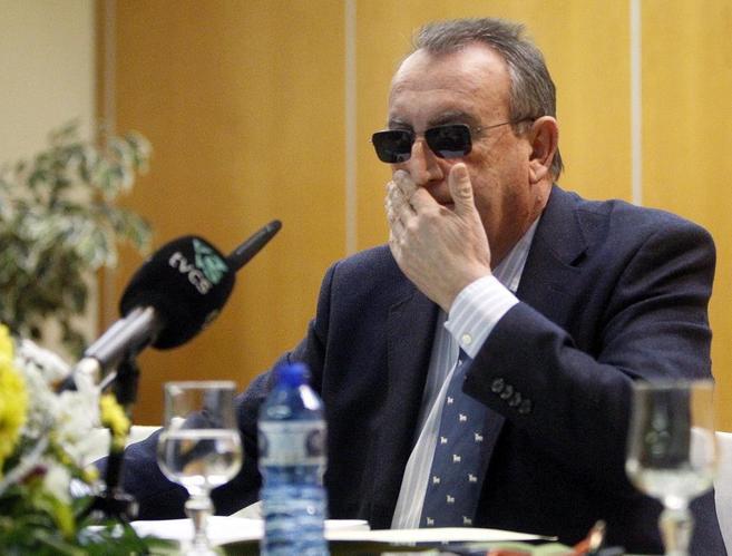 Carlos Fabra, en la rueda de prensa para valorar su condena.