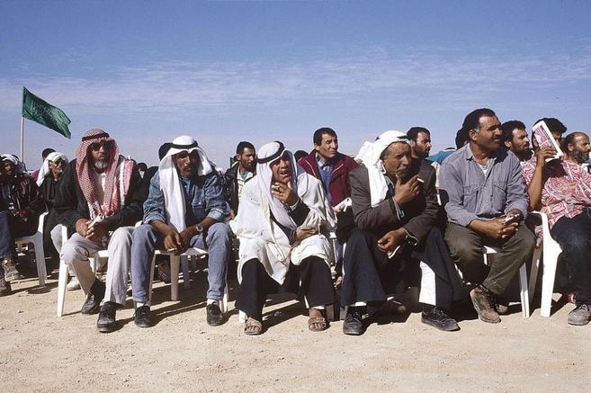 Comunidad de beduinos en el desierto del Néguev