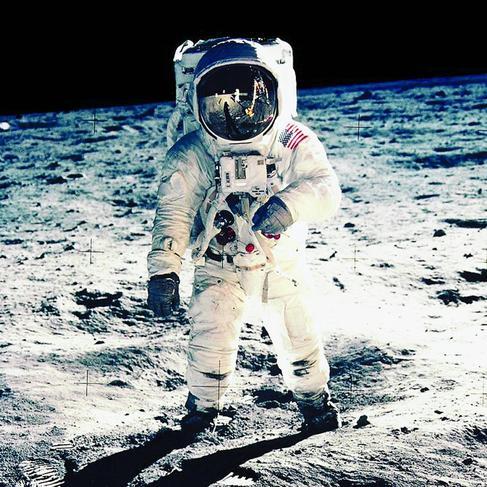 Buzz Aldrin, el segundo hombre en pisar la Luna. |