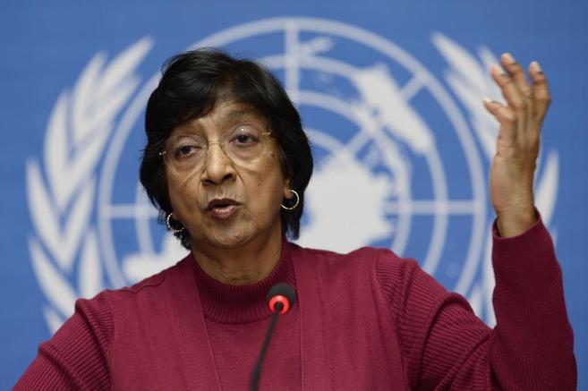 La Alta Comisionada de la ONU para los derechos humanos, Navi Pillay,...