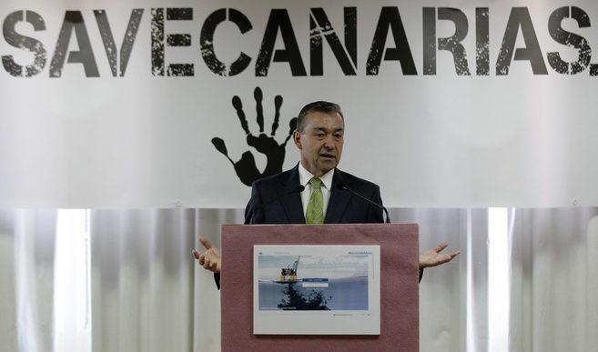 Paulino Rivero, durante la presentación de la campaña contra las...