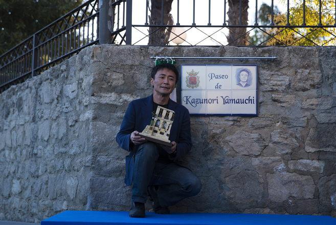 El director de videojuegos japonés Kazunori Yamauchi, en el paseo que...