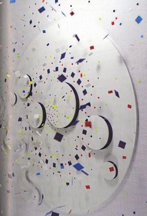 Una de las obras de Robert Ferrer expuestas en la galería de París.