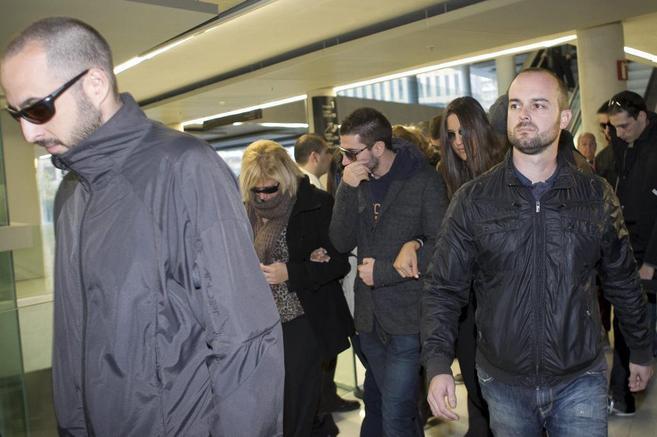 Llegada de los mossos imputados a los juzgados.
