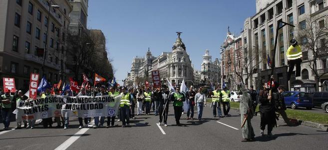 Manifestación de agentes de Movilidad