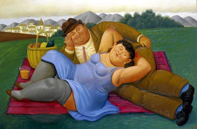 Cuadro de Fernando Botero 'Picnic'.