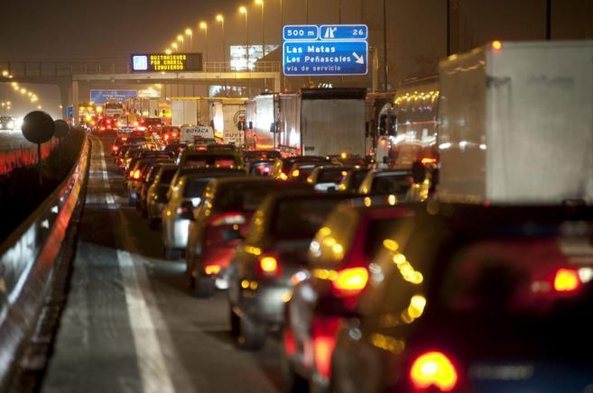 Imagen de la contaminación urbana en Madrid.