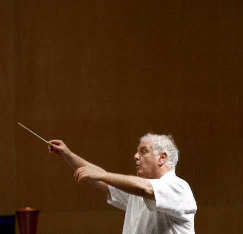 Daniel Baremboim, durante un ensayo.