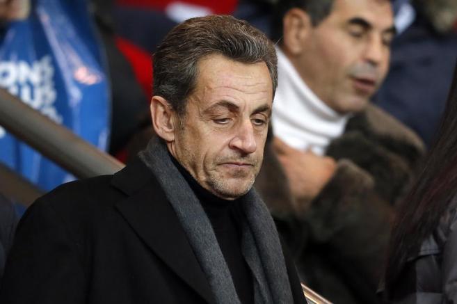 El ex presidente Sarkozy, en el fútbol, en un partido de la liga...