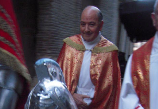 Don Florencio, en la Semana Santa de 2012 en Borja. Los pobres lo...