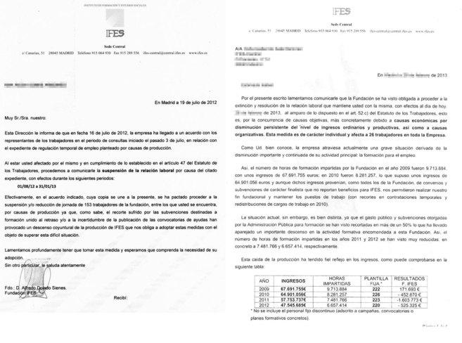 «Descenso Coyuntural». Ifes planteó un ERTE para 153 empleados...