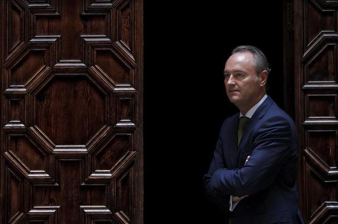 El presidente de la Generalitat, Alberto Fabra, en la Generalitat.