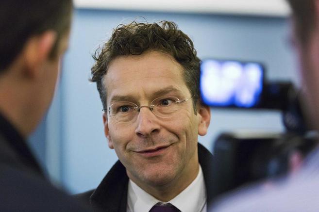 El presidente del Eurogrupo y ministro de Finanzas holandés, Jeroen...