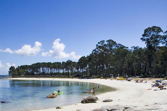 Playa de la isla de Arousa