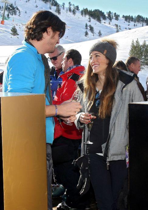 Luis y Alejandra, este fin de semana en la estación de esquí.