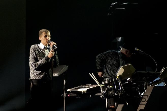 Un momento de la actuación del belga Stromae.