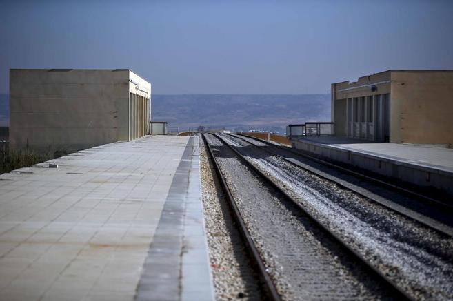 Estado actual de la estación de Cercanías de San Martín de la Vega,...