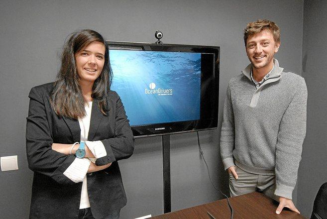 Clara Torres y Maties Bonet de OceanDrivers, empresa informática...