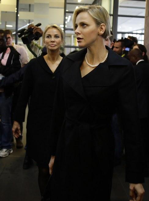 Charlene, a su llegada al servicio religioso.