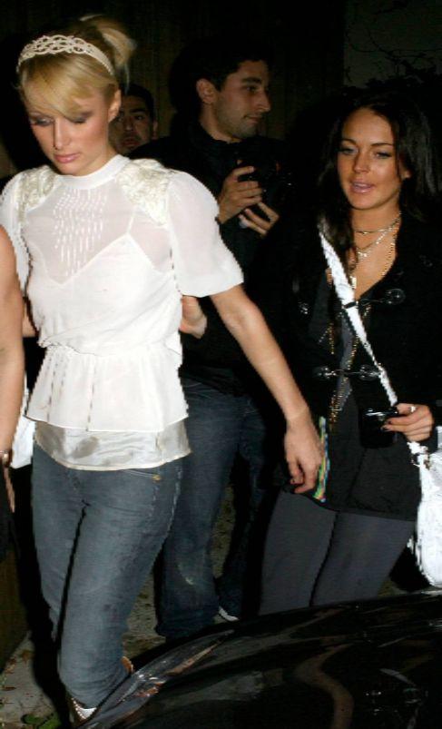 Hilton y Lohan, en 2006, en la época en que eran compañeras de...
