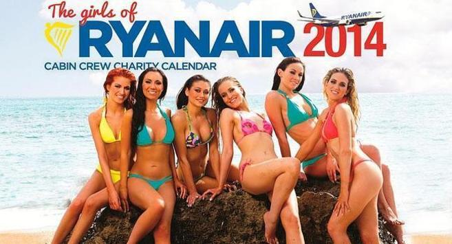Imagen del calendario publicitario que ha desatado la polémica.
