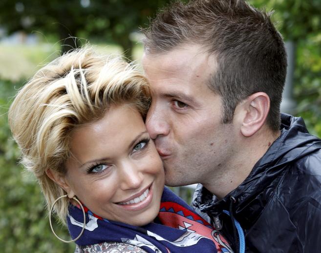 Sylvie y Rafael van der Vaart, cuando todavía eran pareja.