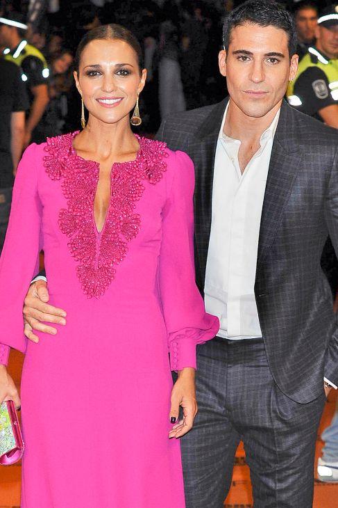 El actor, con su compañera en 'Galerías Velvet'