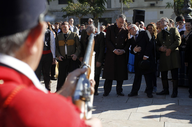 El homenaje a Torrijos celebrado el domingo en la plaza de La Merced.