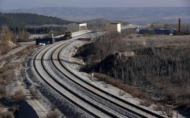 Estado actual del ramal ferroviario, donde se han retirado las...