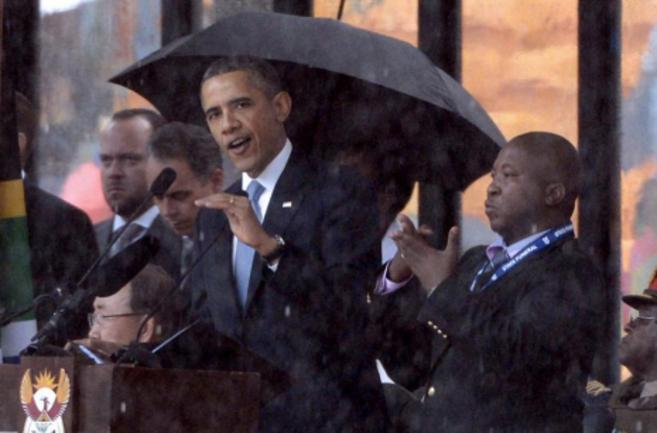 El presidente de EEUU y el intérprete.