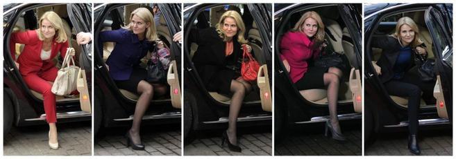 Combinación de fotos de la primera ministra danesa.