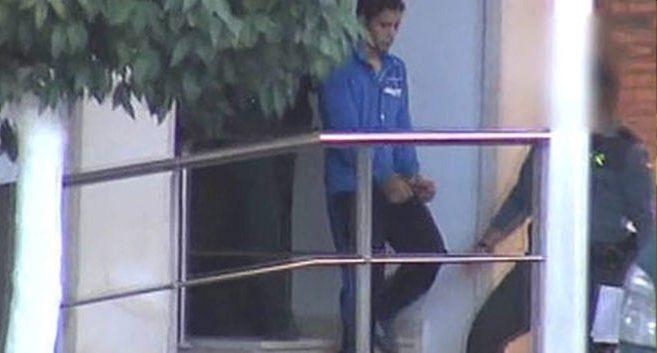El hijo de Ortega Cano, tras ser detenido.