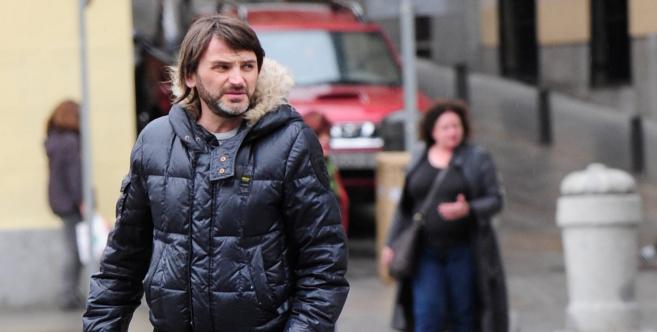 El actor, paseando por las calles de Madrid.