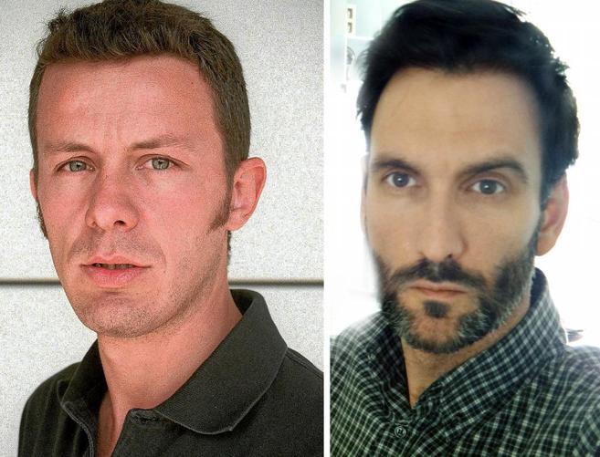 El periodista de EL MUNDO, Javier Espinosa (i), y el fotógrafo...