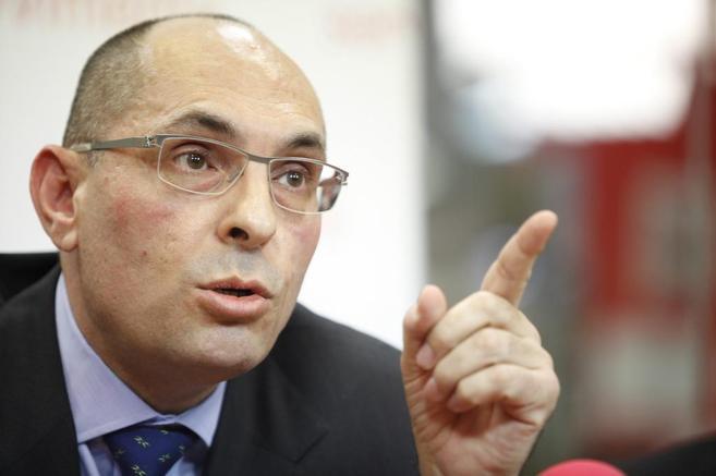 El juez Elpidio José Silva durante la rueda de prensa