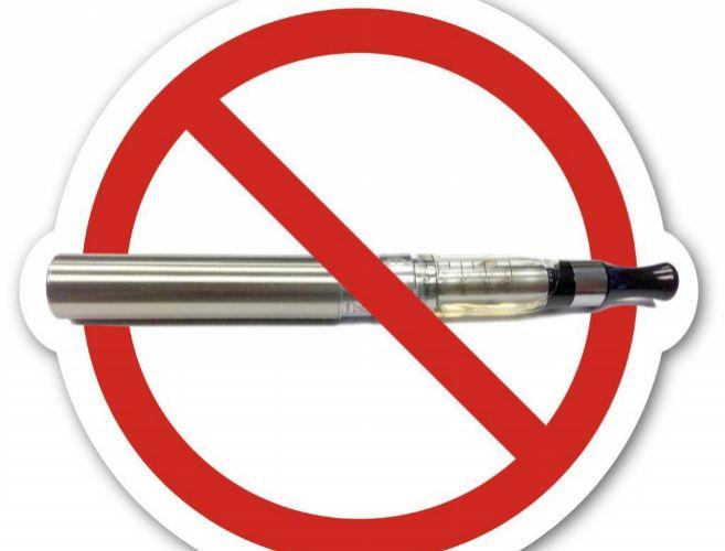Señal de prohibición del cigarrillo electrónico.