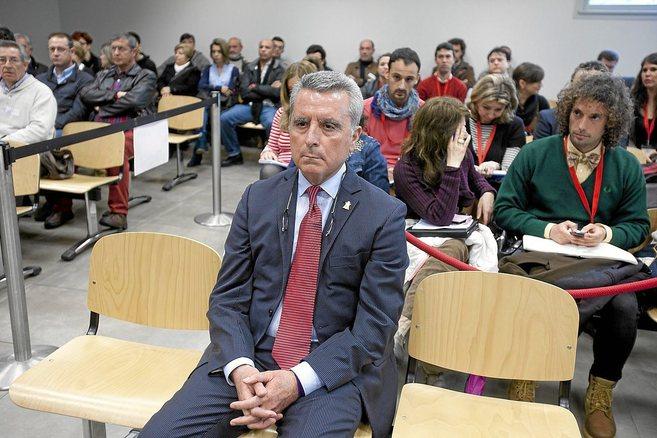 Ortega Cano, durante el juicio por el accidente mortal el pasado mes...
