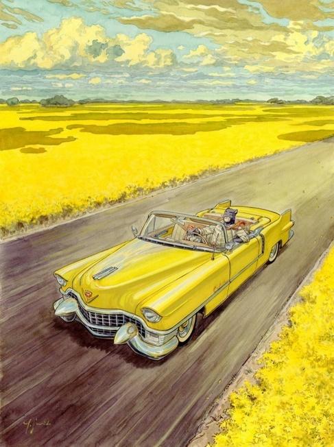 Imagen del quinto tomo de la serie, 'Amarillo'.