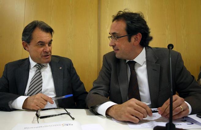 Artur Mas, junto a Josep Rull en un acto reciente.