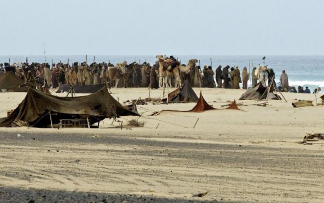 El rodaje de la película en la playa de Jandía, Fuerteventura.