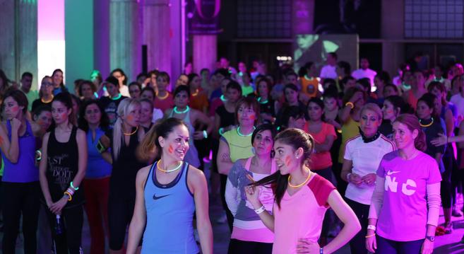 Sesión de entrenamiento de Yo Dona Running Club.